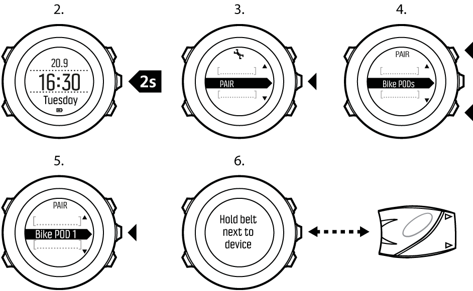 Suunto Ambit3 Vertical - Features - PODs and HR sensors