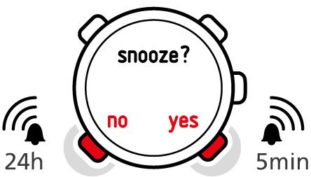 Suunto Core - Using time mode - Setting alarm