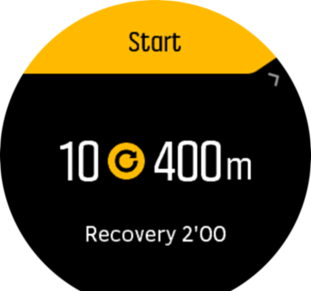 Interval training start