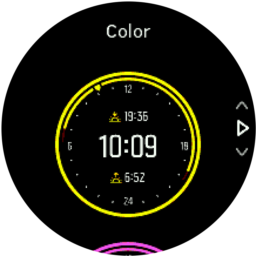 Trainer para sa kulay ng watch face