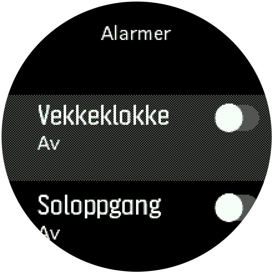 SunriseSunset alarm toggle Spartan Trainer
