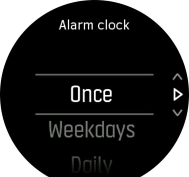 alarm settings step1