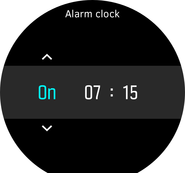 Alarm clock picker