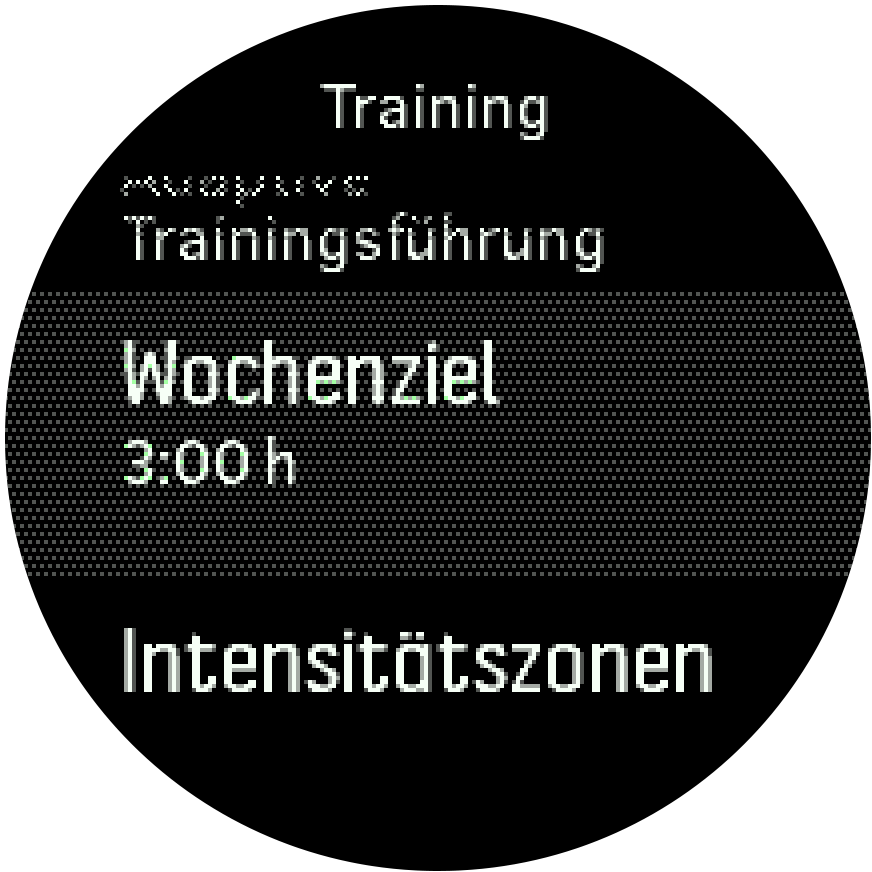 WeeklyGoal Settings Trainer