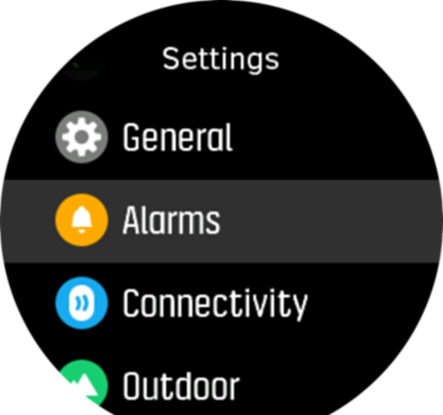 Settings menu Spartan