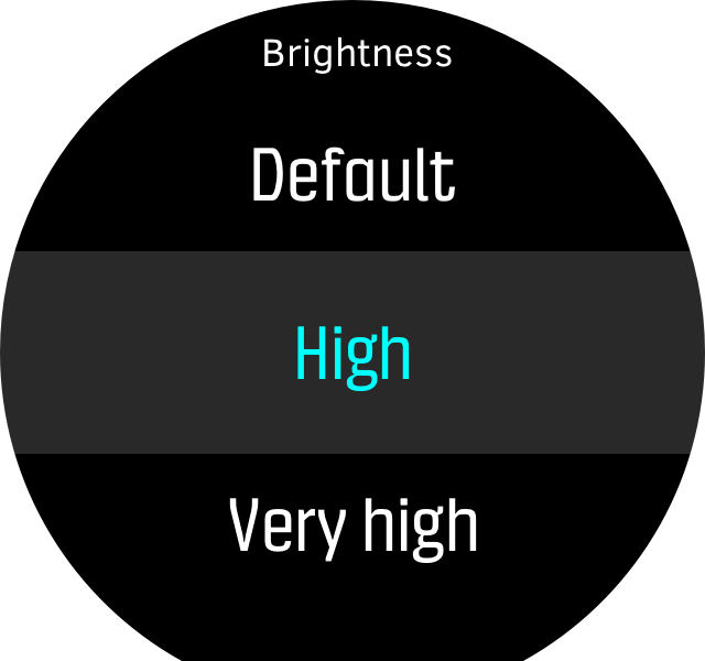Menu brightness high D5