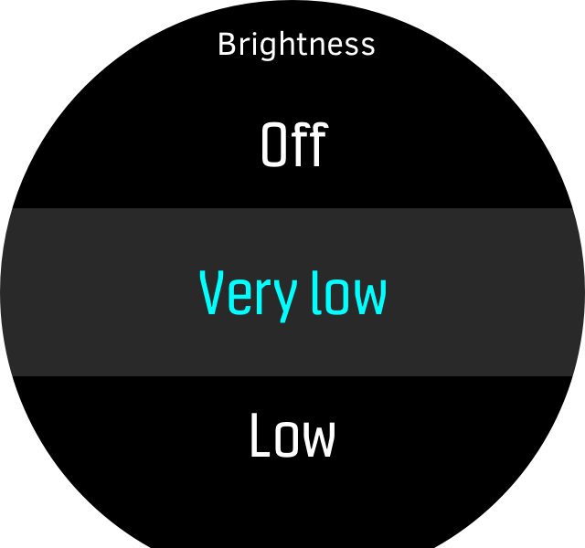Menu brightness low D5