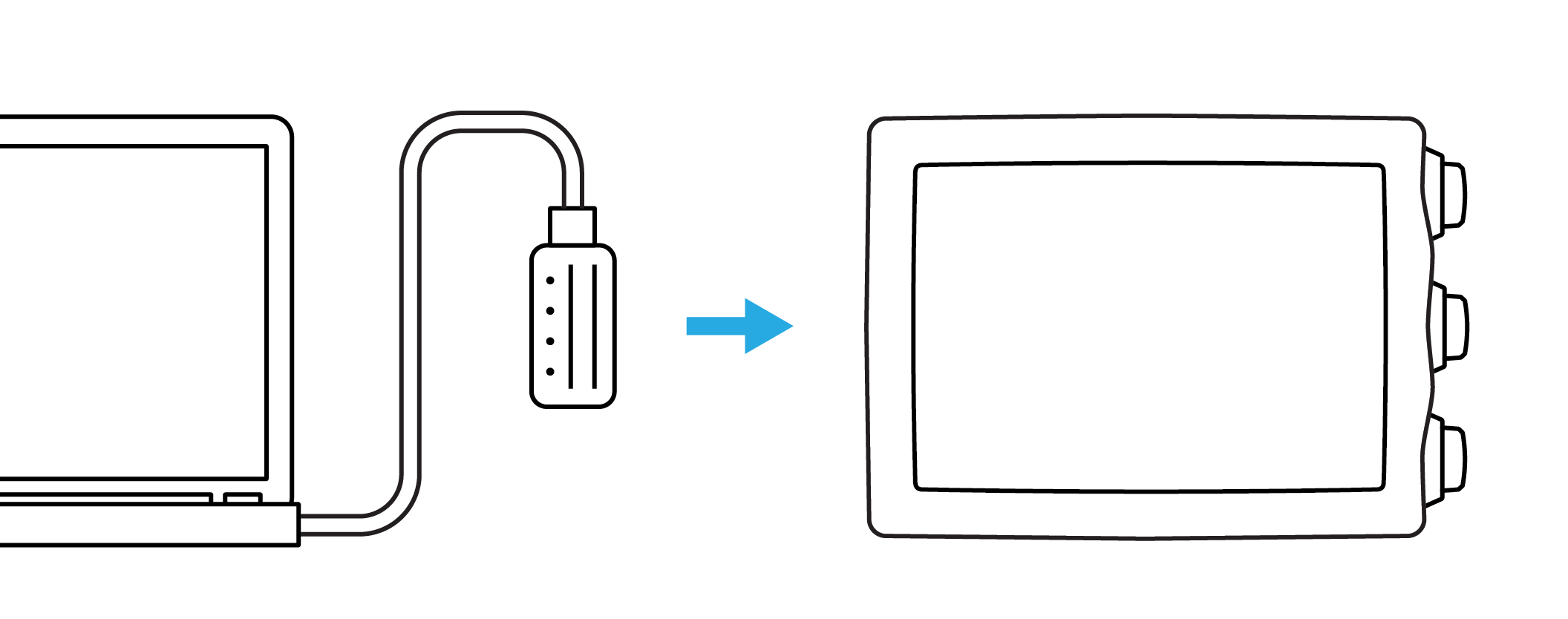 connect USB cable EON Core new
