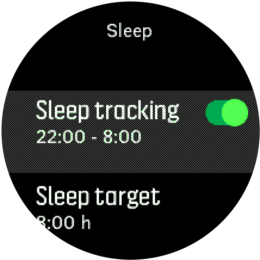 sleeptracking setting Trainer