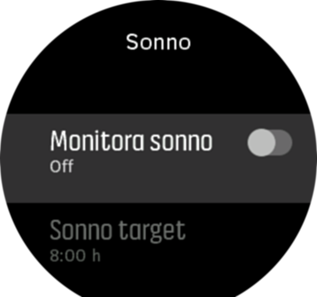 sleeptracking setting UltraSport