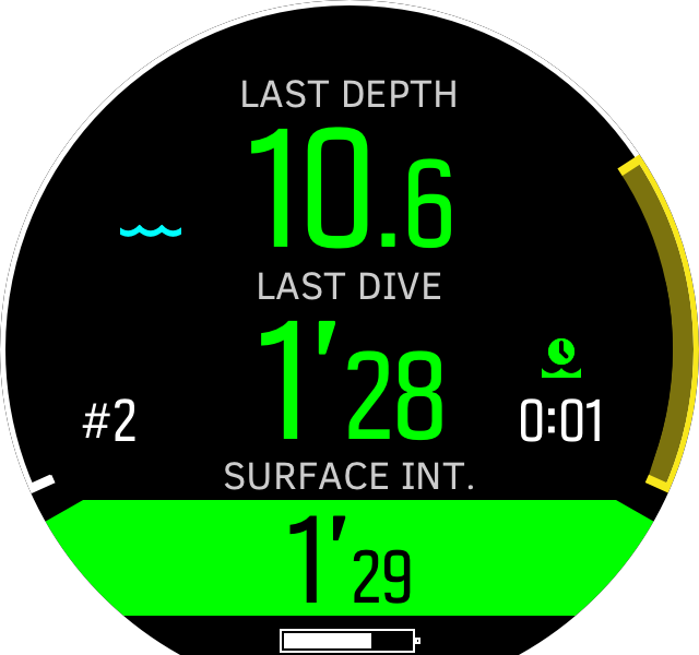 Free mode surface depth view D5