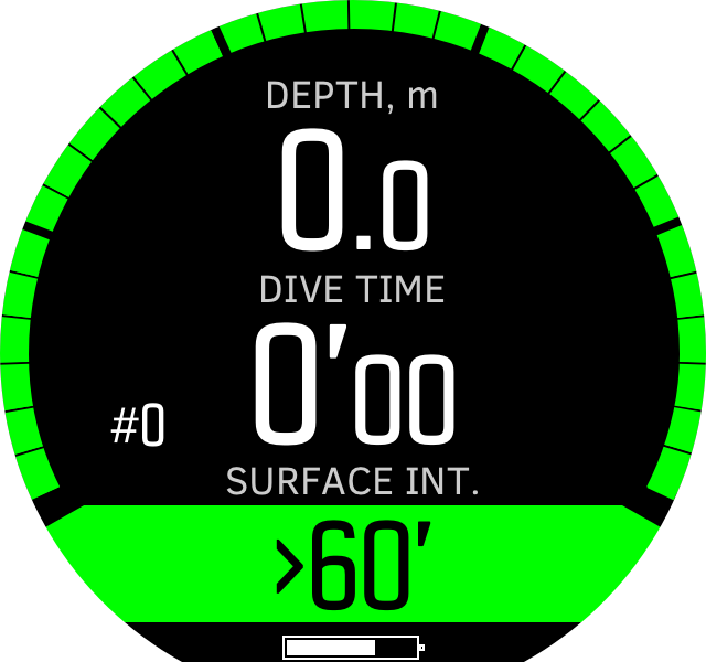 Freedive time before dive D5