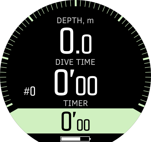 Freedive timer before dives D5