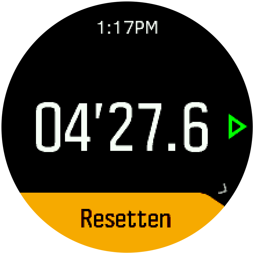 Stopwatch pause resume Trainer