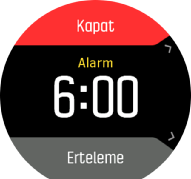 Alarm dismiss snooze