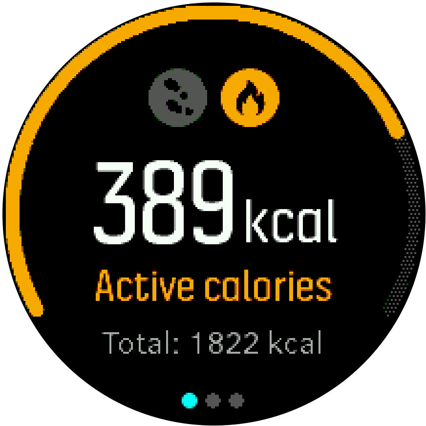 ActivityMonitoring calories Spartan Trainer