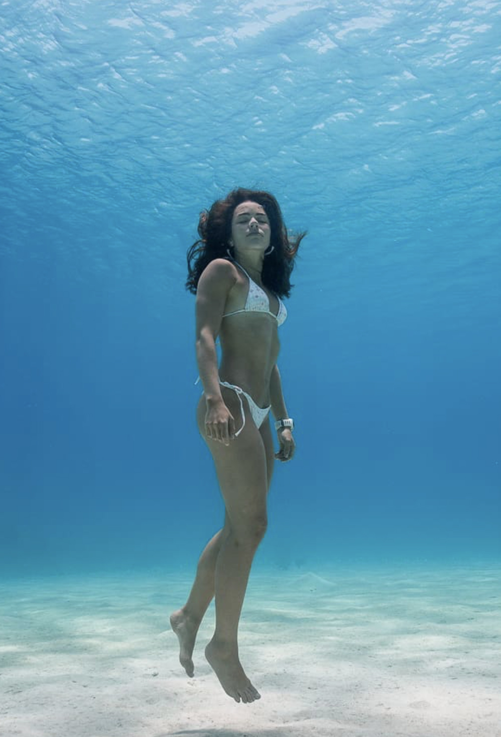Three x World Record holder Sofía Gómez Uribe, taken by fellow freediver and coach,  Johnny Sunnex