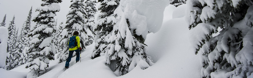 Greg Hill battles deep snow during his March Madness challenge, Revelstoke, Canada..