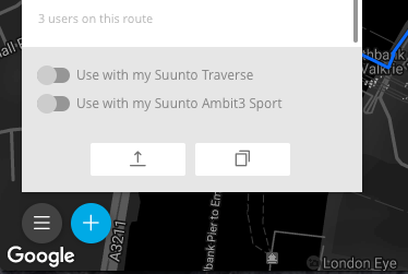 Use the route in your Suunto GPS watch
