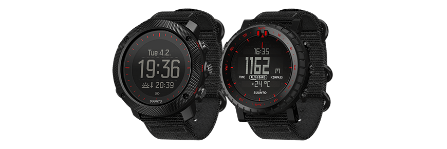 Suunto Traverse Alpha Black Red and Suunto Core Black Red
