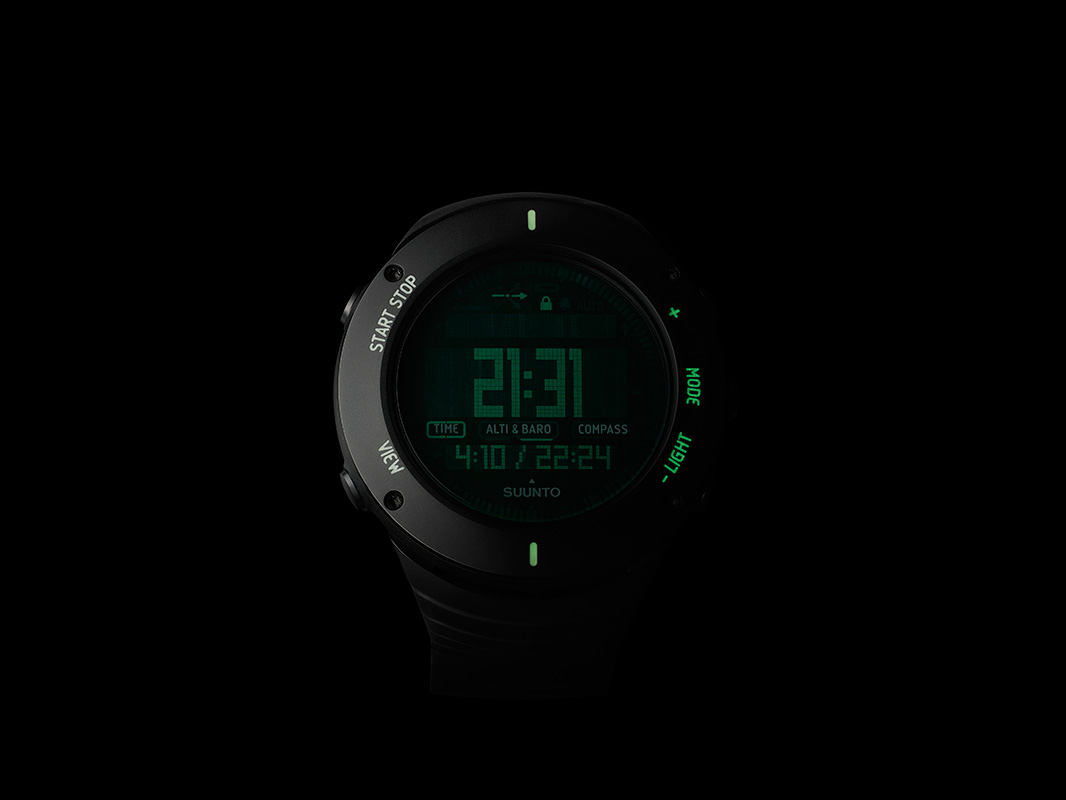 suunto core ultimate black outdoor watch with compass