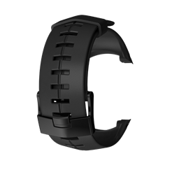 Suunto DX black silicone with black buckle strap kit