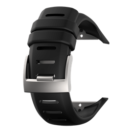 SUUNTO D6I NOVO BLACK SILICONE WITH SILVER BUCKLE STRAP KIT