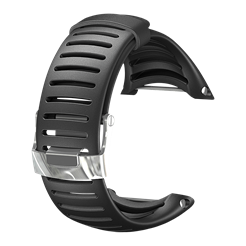 Light svart elastomerarmband för Suunto Core