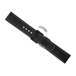 Elementum Terra Black/Red Leather Strap Kit
