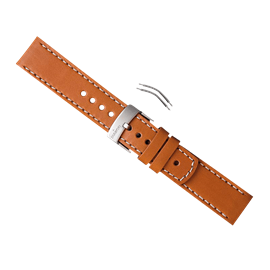 ELEMENTUM VENTUS BROWN LEATHER ARMBAND-SET