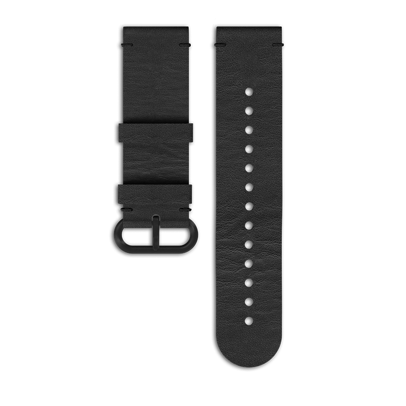 Accomplish All Functions Without: Suunto Essential All Black Leather Strap