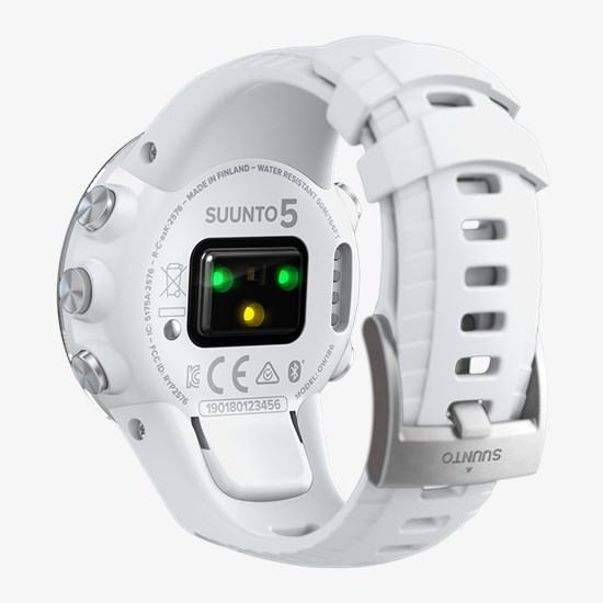 Suunto 5 White - Compact GPS sports watch with great battery life