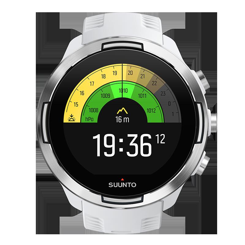 Suunto 9 Baro White - Montre de sport GPS dotée d'une longue autonomie de  batterie