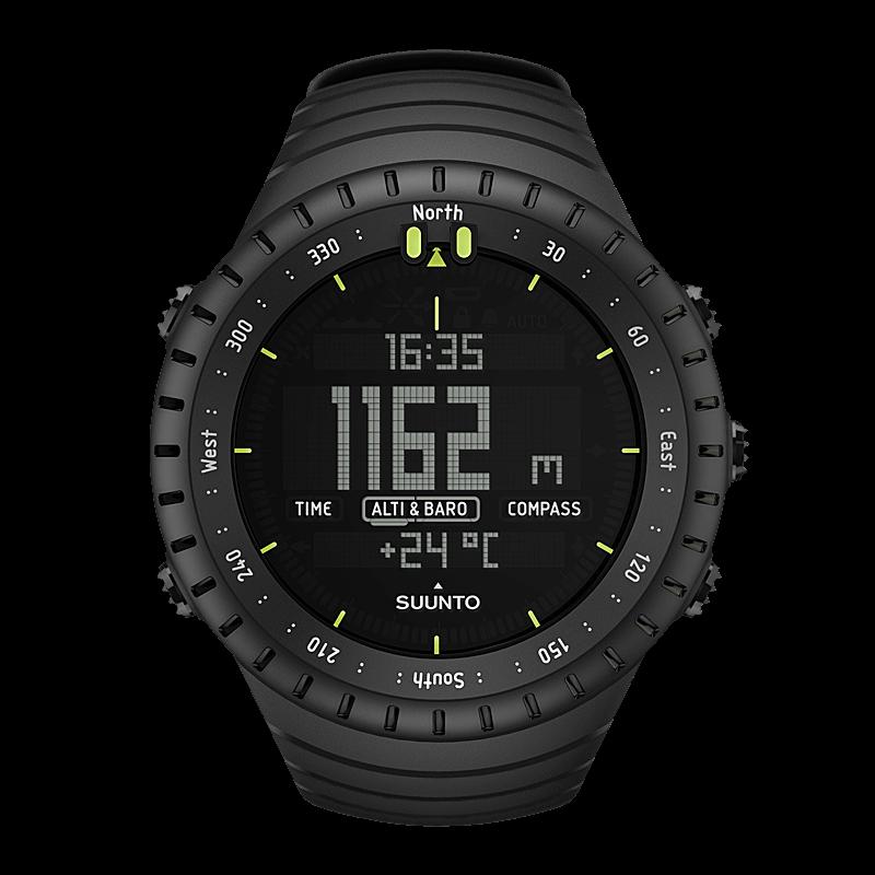 Suunto core all black outdoor watch with altimeter - Suunto dive watch ...