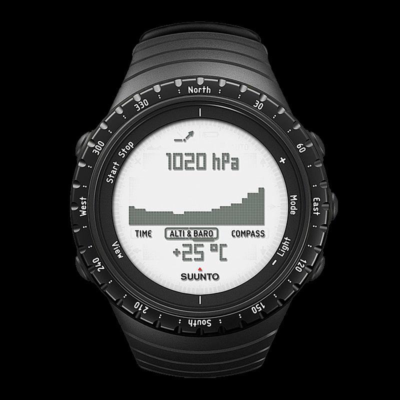 suunto core regular black outdoor watch with barometer