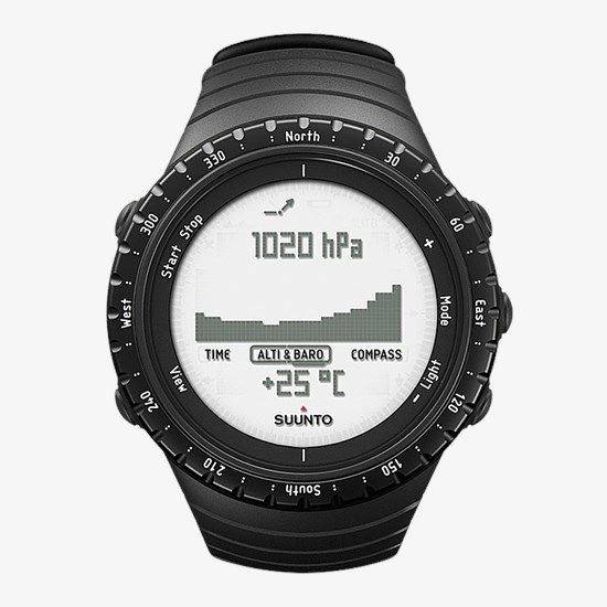 Barometer Black Montre Suunto Avec Regular Outdoor Core qzGUVLpSM