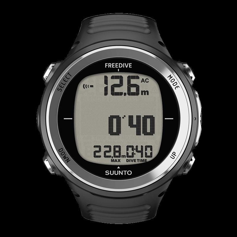 Suunto D4f Black – Light-weight dedicated freediving computer