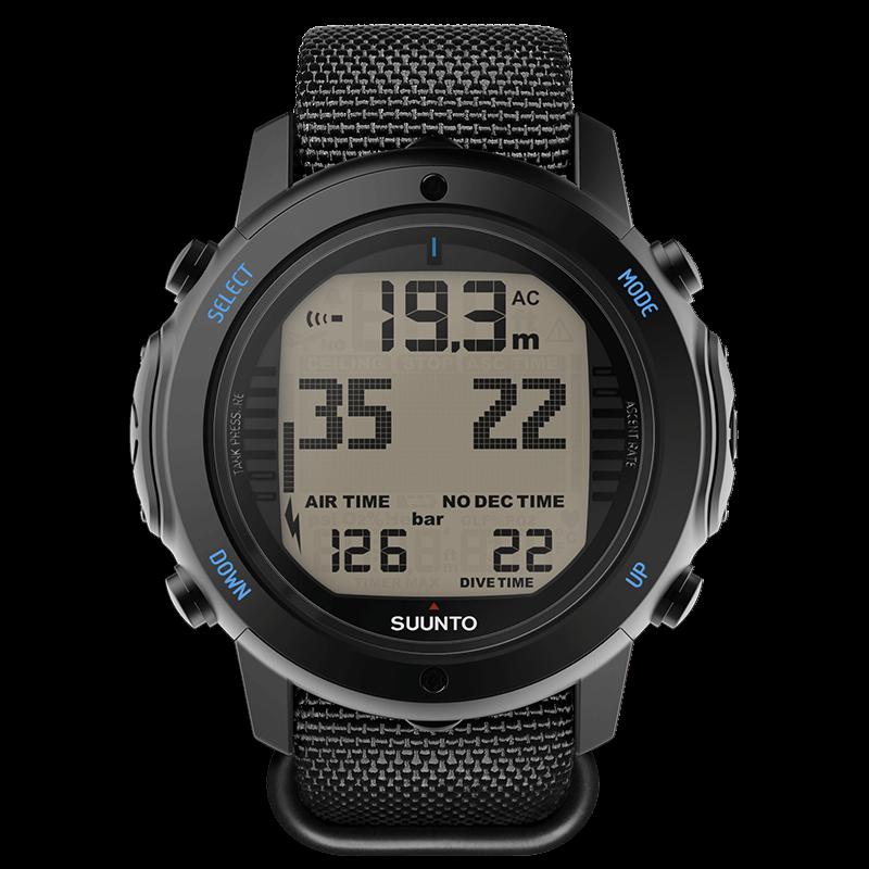 Suunto d6i novo black zulu rugged dive computer with textile strap - Suunto dive watch ...