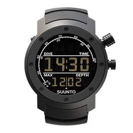 SUUNTO ELEMENTUM AQUA BLACK RUBBER / DARK DISPLAY
