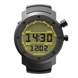SUUNTO ELEMENTUM AQUA BLACK RUBBER / LIGHT DISPLAY