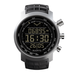 Suunto Elementum Terra Black Rubber / display negativo
