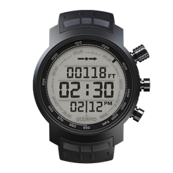 Suunto Elementum Terra Black Rubber / display positivo