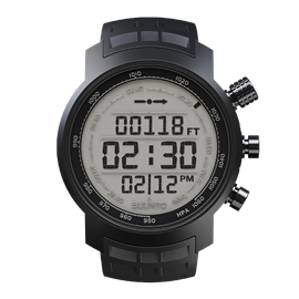 SUUNTO ELEMENTUM TERRA BLACK RUBBER / LIGHT DISPLAY