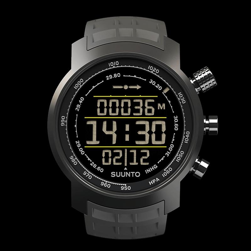 Suunto Elementum Terra Stealth N Gray Rubber Sports Watch