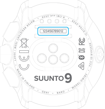 Where do I find the serial number of my Suunto product?
