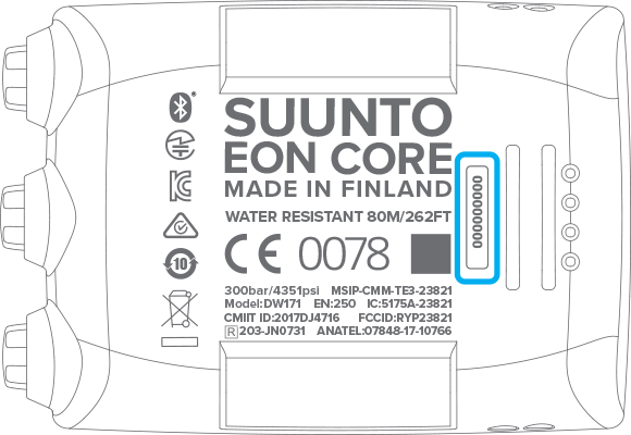 Serial number EON Core