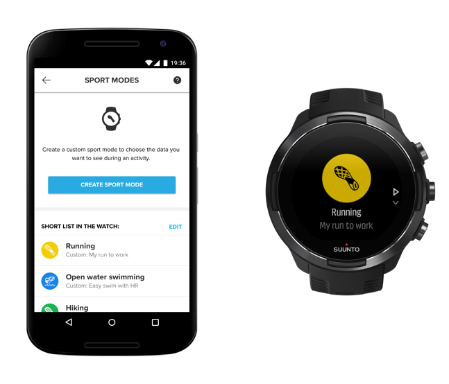Create a custom sport mode with Suunto app Android