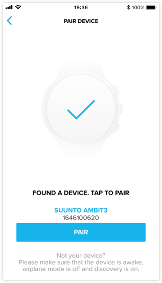 Pairing Ambit3 or Traverse with Suunto app