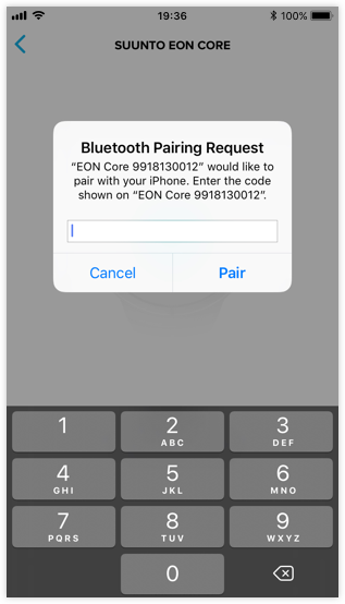 How do I pair my Suunto EON Steel and Core with Suunto app for iOS?