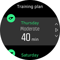 Training plan details.
